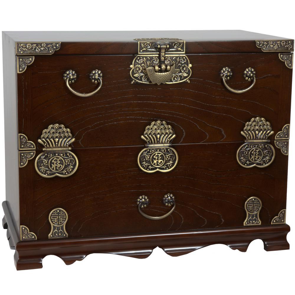 Oriental Furniture Brown Chest KRN-H-8S