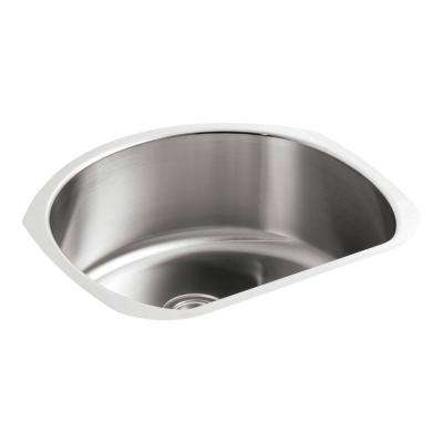 McAllister Undermount Stainless Steel 24 in. Single Basin Kitchen Sink