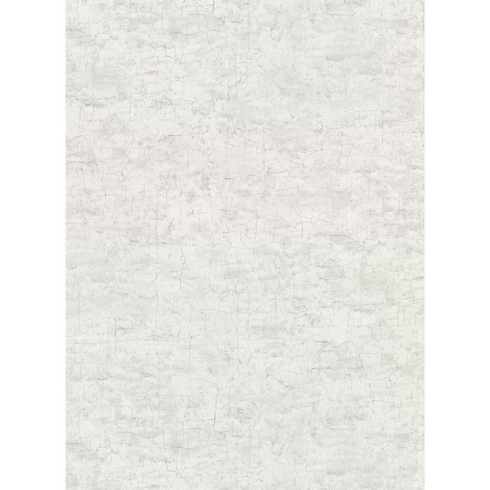 60.8 sq. ft. Pembroke Light Grey Faux Plaster Wallpaper