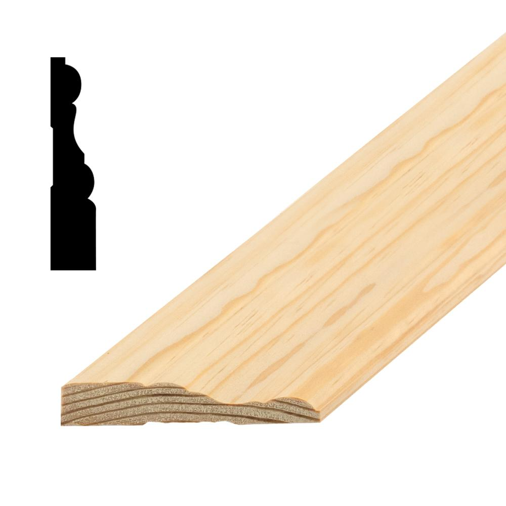 American Wood Moulding AMC 286 11/16 in. x 3-1/4 in. Pine Casing ...
