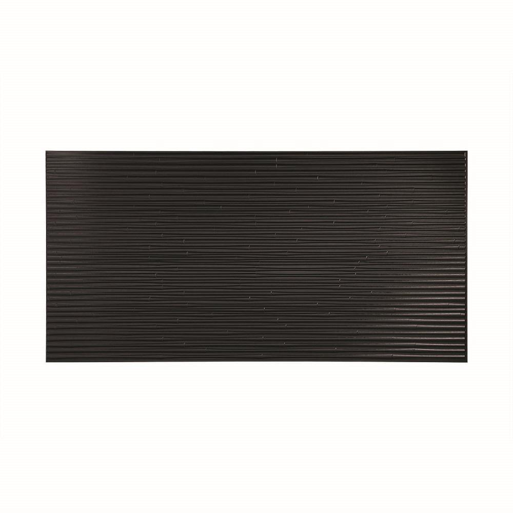Black Wall Paneling : In wood composite windworn wall