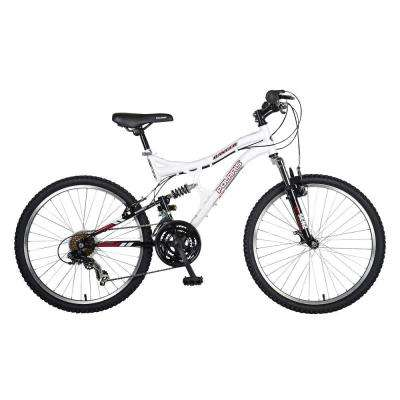Ranger Full Suspension Mountain Bike, 24 in. Wheels, 17 in. Frame, Girl's Bike in White