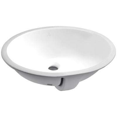 Rhodes Series 7.5 in. Ceramic Undermount Sink Basin in White