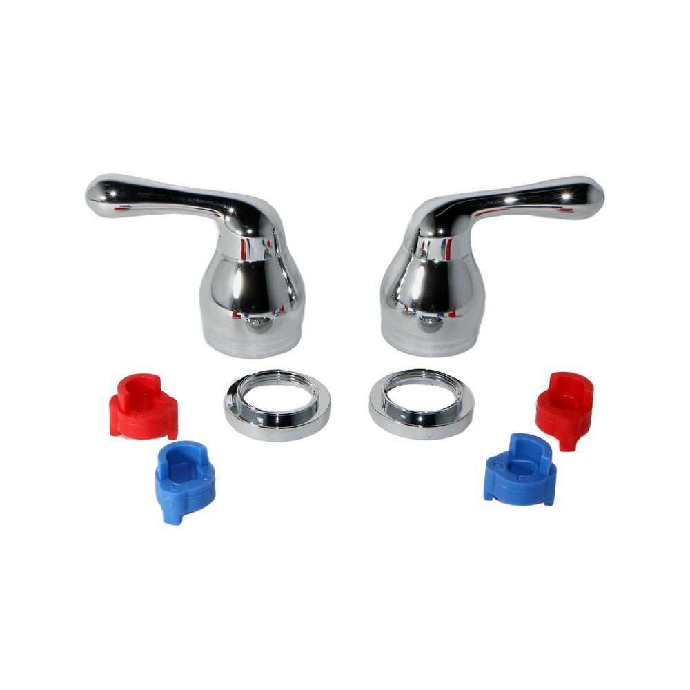 Polished Chrome Jag Plumbing Products Handles Levers Controls on Universal Kitchen Faucet Replacement Handles