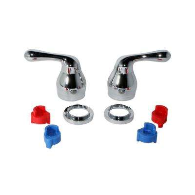 Universal Lever Faucet Handles in Chrome (2-Pack)