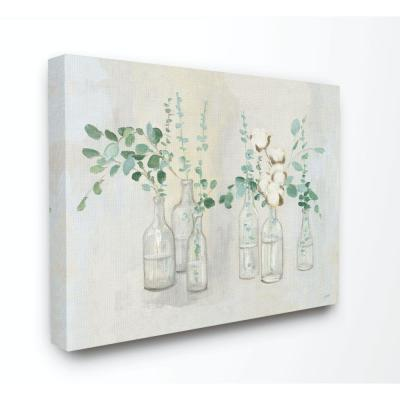 "24 in. x 30 in. ""Flowers And Plants Neutral Grey Green Painting"" by Julia Purinton Canvas Wall Art"