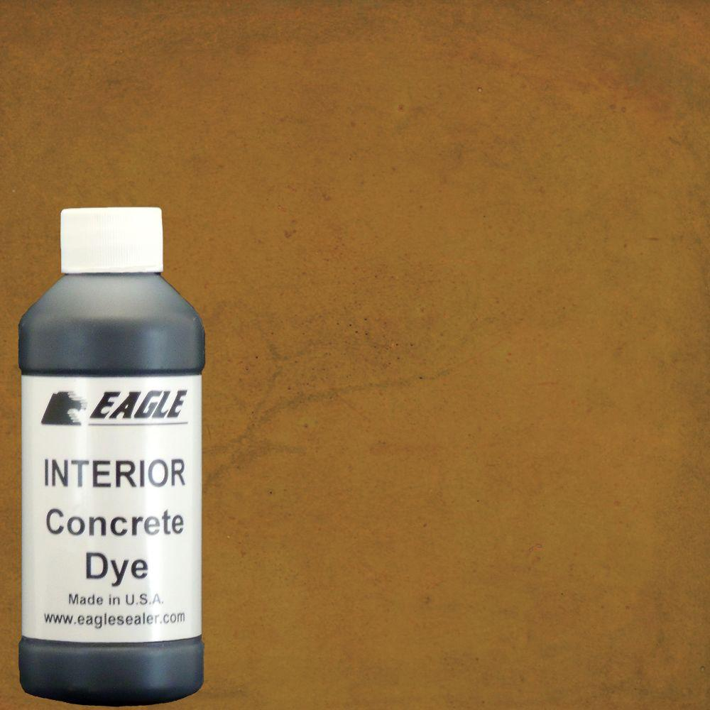 Eagle 1 gal. Warm Honey Interior Concrete Dye Stain Makes with Water from 8 oz. Concentrate
