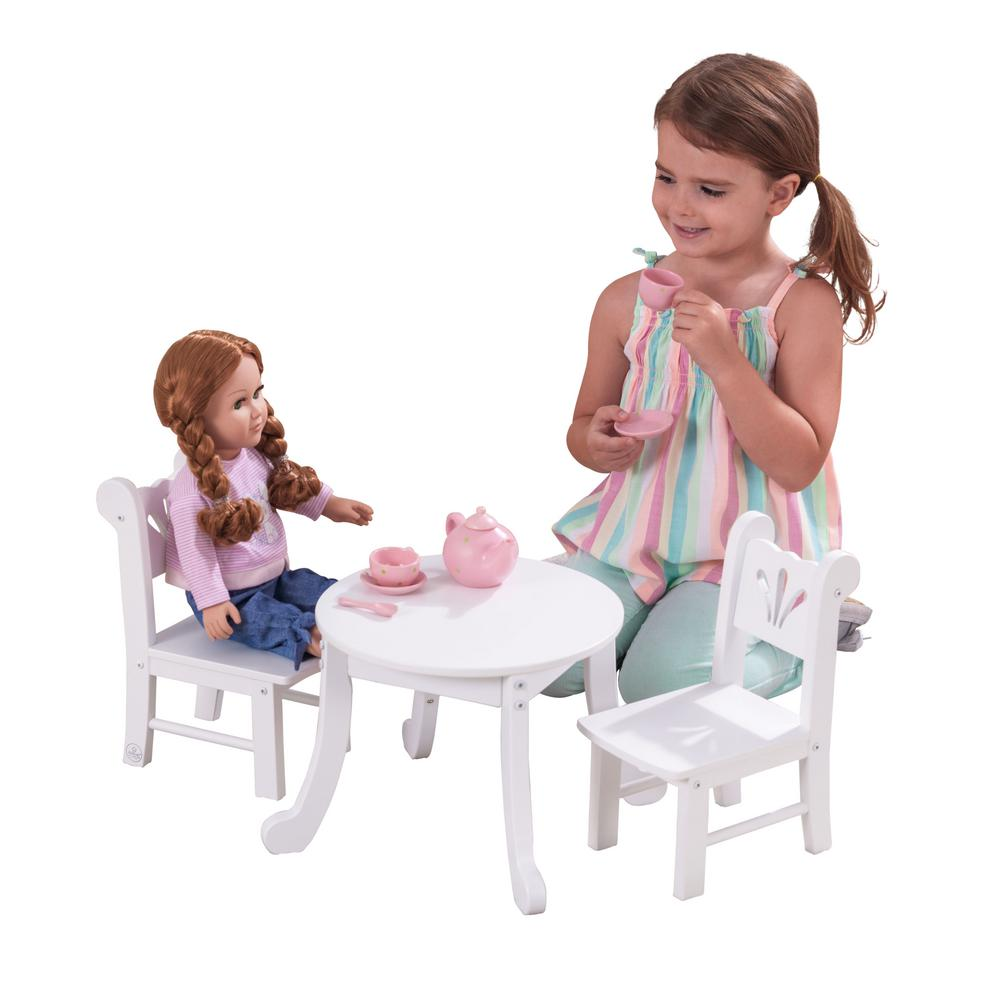 Miraculous Kidkraft Lil Doll Table And Chair Set Andrewgaddart Wooden Chair Designs For Living Room Andrewgaddartcom