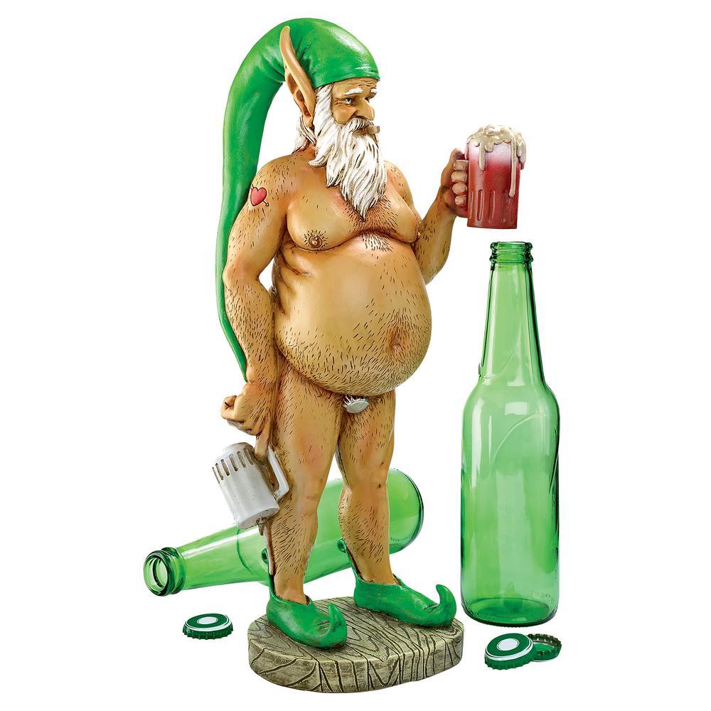 13.5 in. H Oktoberfest Otto Fully Krausened Elf Gnome Statue