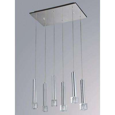 Lays 6-Light Chrome Chandelier
