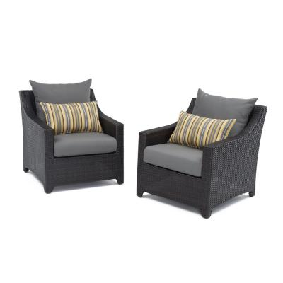 Deco Patio Club Chair with Charcoal Grey Cushions (2-Pack)