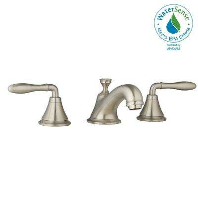 Seabury 8 in. Widespread 2-Handle Low-Arc Bathroom Faucet in Infinity Brushed-Nickel Less Handles