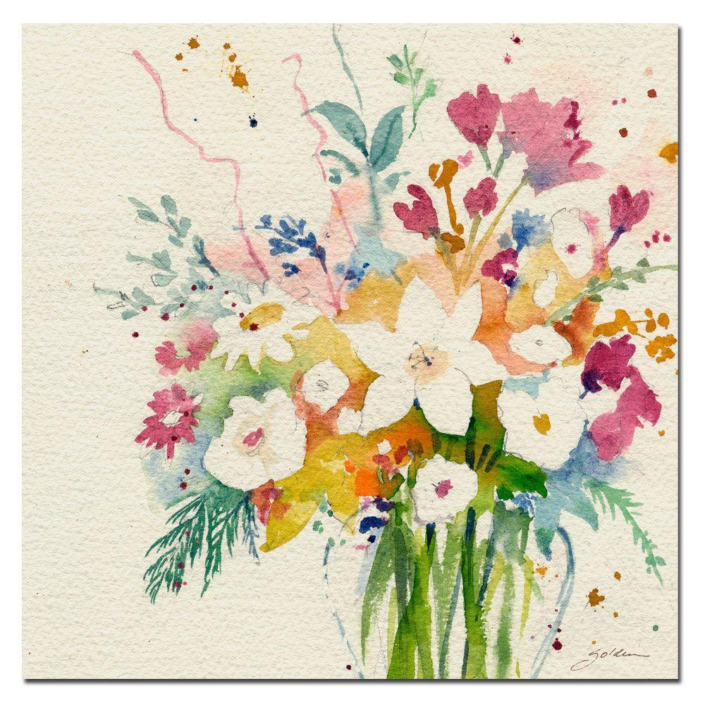 24 in. x 24 in. Dream Bouquet Canvas Art