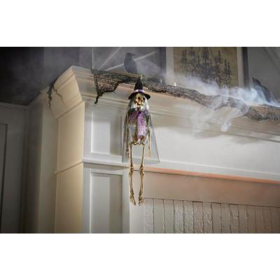 18.5 in. Hanging Skeleton Witch