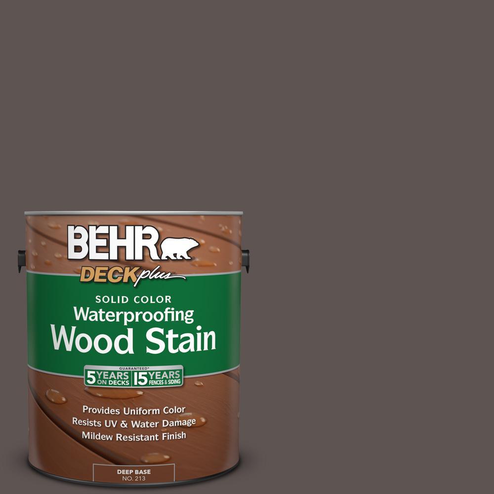behr deckplus 1 gal n140 7 timber brown solid color waterproofing
