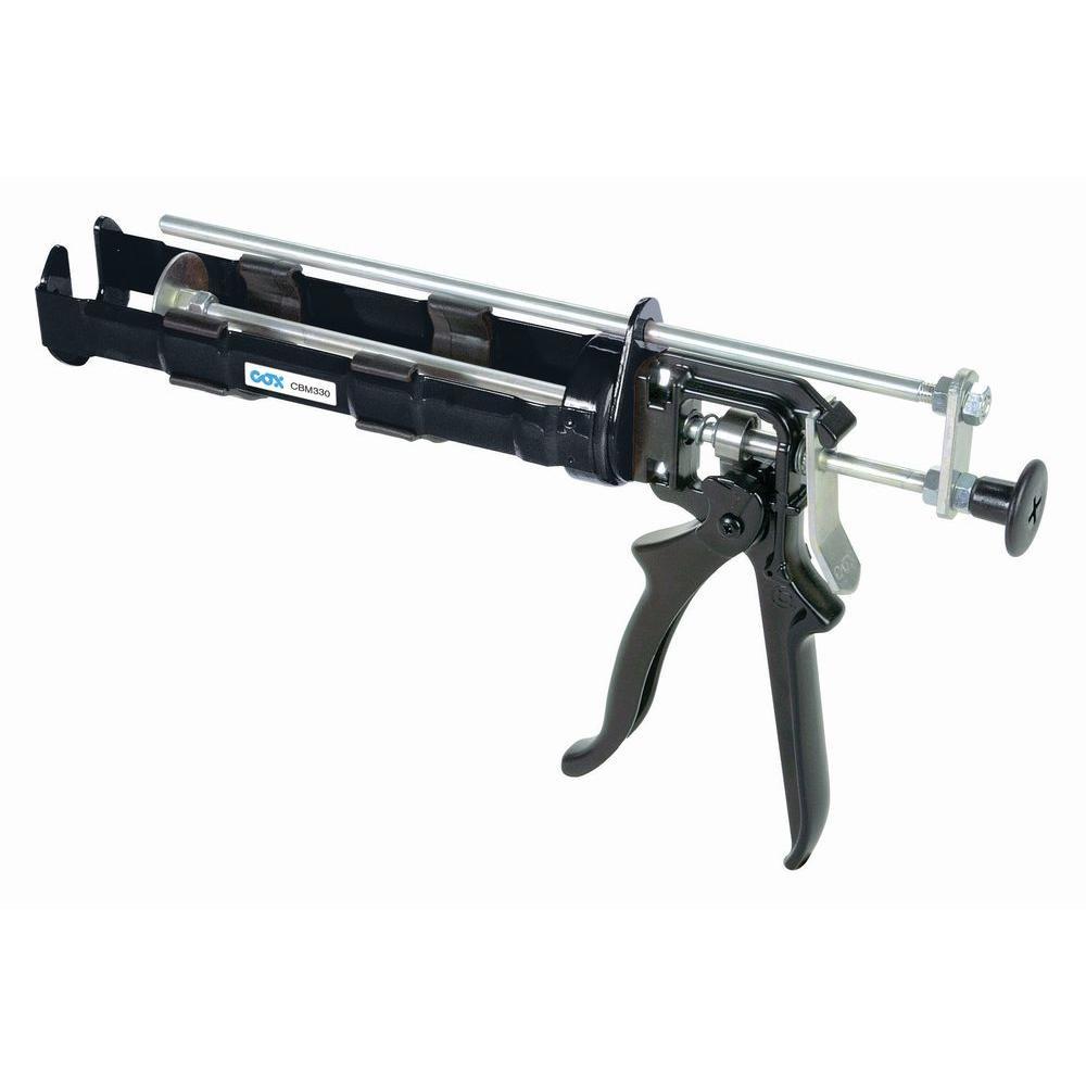 COX 300 ml x 30 ml Dual Cartridge Extra Thrust Epoxy Applicator Gun