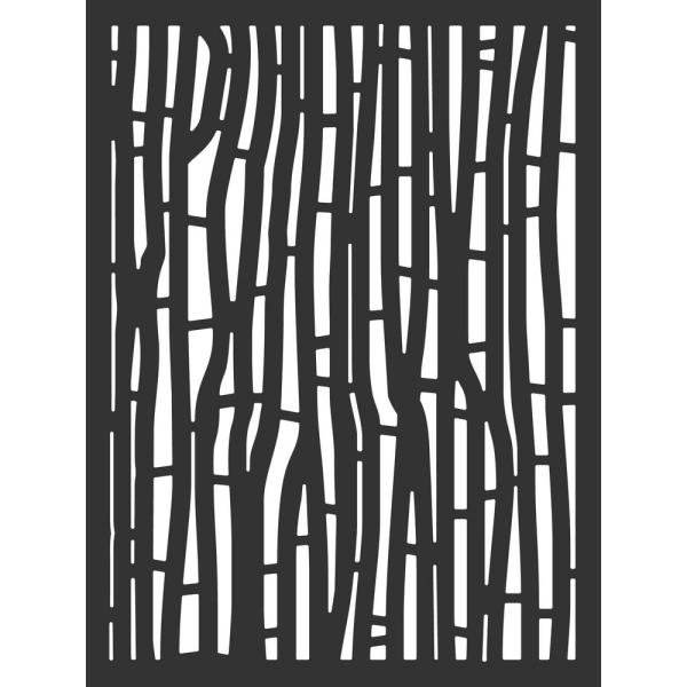 4 ft. x 3 ft. Black Hana Hardwood Composite Decorative Wall Decor and Privacy Panel