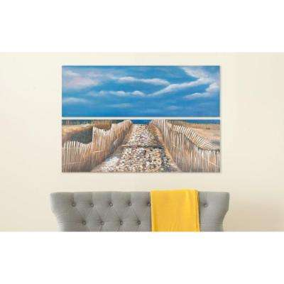 """48 in. x 16 in. """"Sea and Sand"""" Wall Art"""