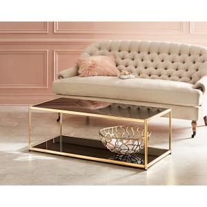 Merveilleux Internet #301424691. +6. Safavieh Zola Glass/Gold Coffee Table