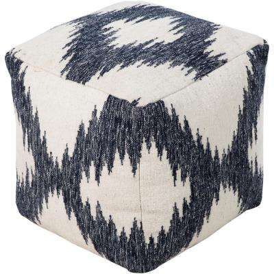 Francisco Navy Accent Pouf Ottoman