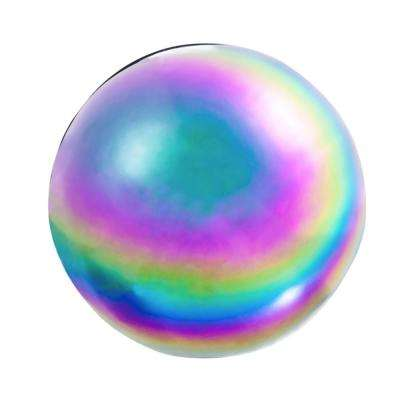 10 in. Multi-Color Stainless Steel Rainbow Metallic Wonder Gazing Ball