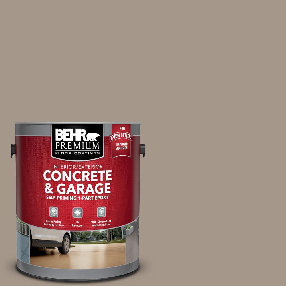 1 gal. #N220-4 Shiitake Self-Priming 1-Part Epoxy Satin Interior/Exterior Concrete and Garage Floor Paint