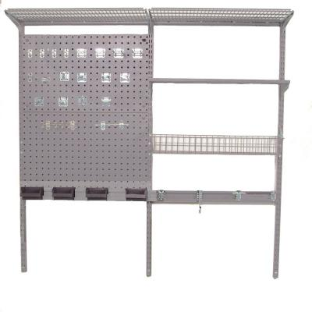 Storability 3/8 in. Silver Garage Wall Storage Center