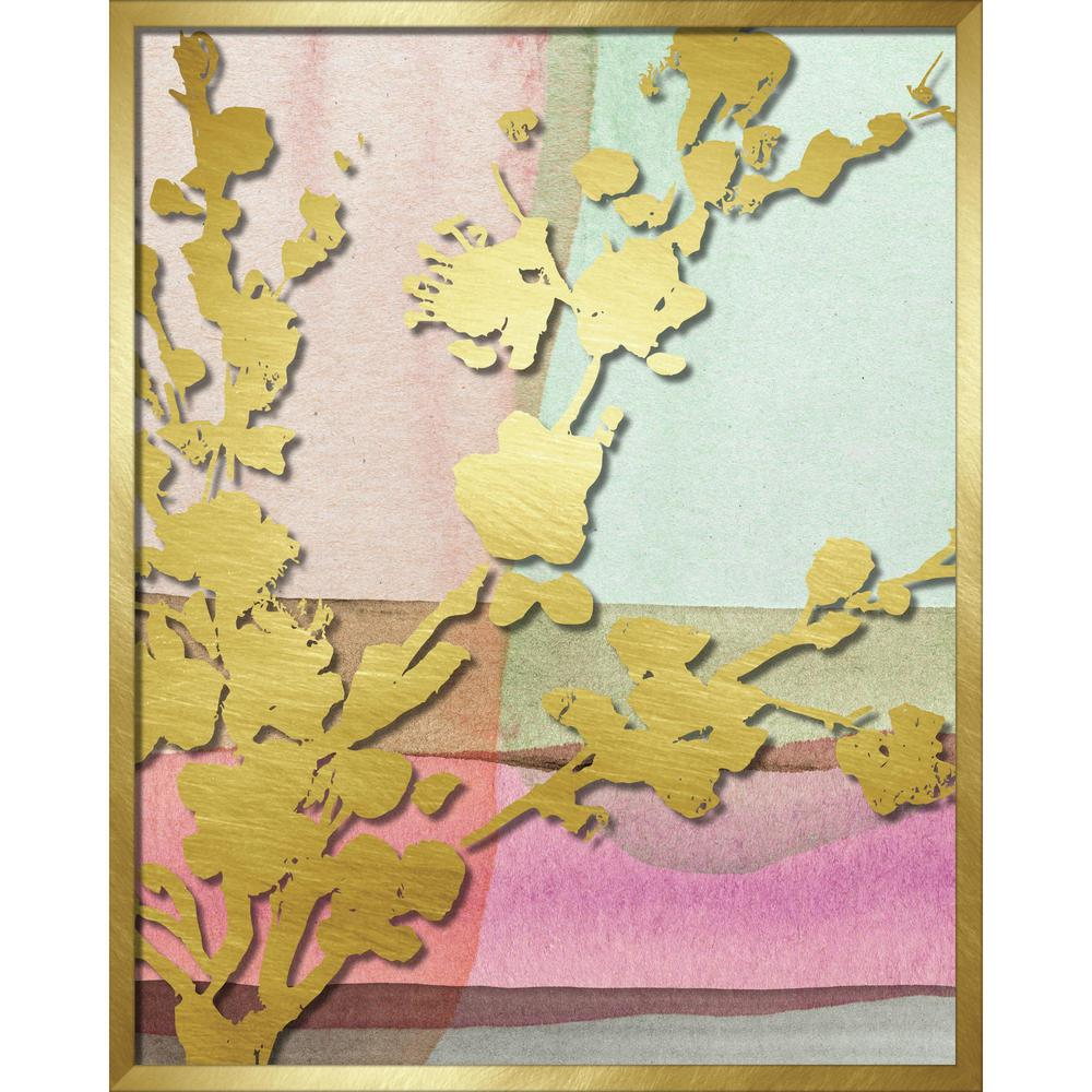 "Linden Ave 16 in. x 20 in. ""Pink Abstract Watercolor W. Peony Vine ..."