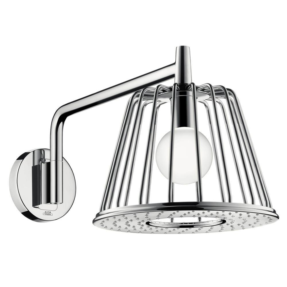 Hansgrohe Axor 1-Spray 10-7/8 in. LampShower Trim Showerhead in ...