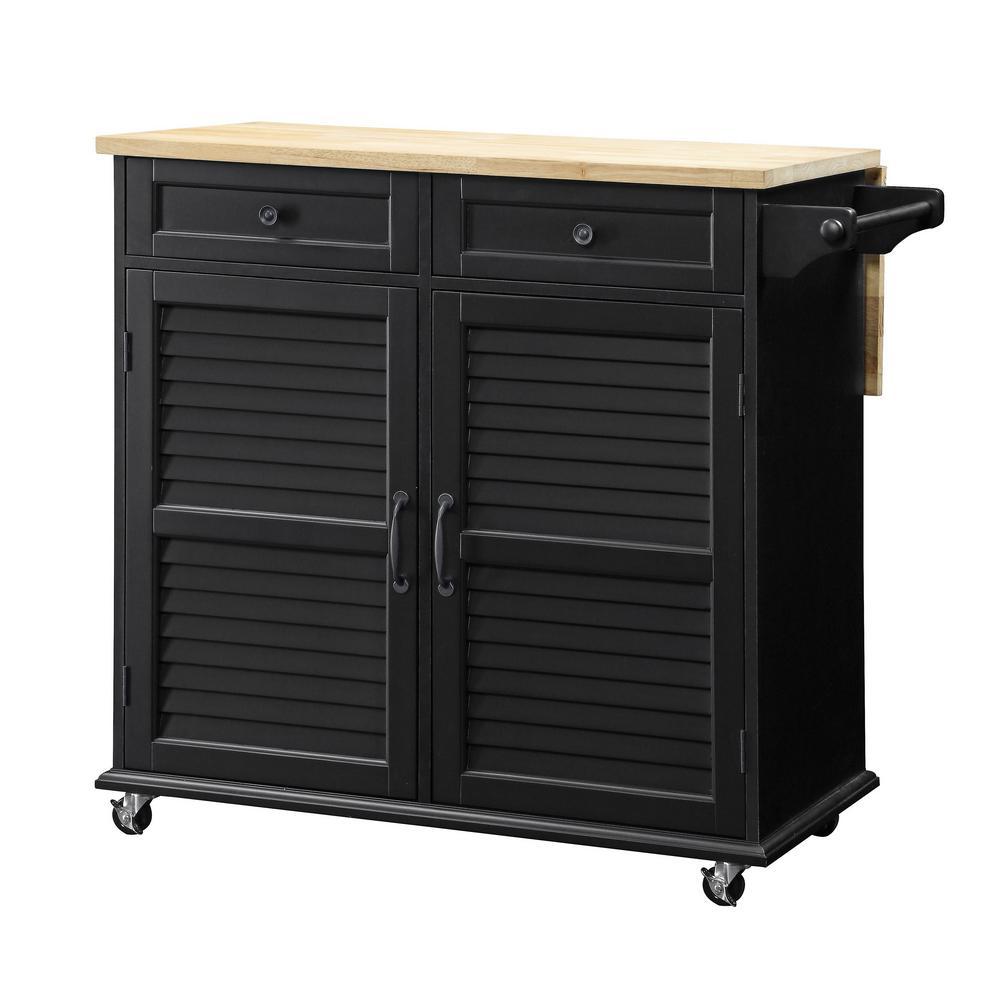 USL SK19276C2 Portland Kitchen Black Cart Deals