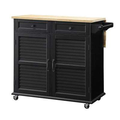 Portland Kitchen Black Cart