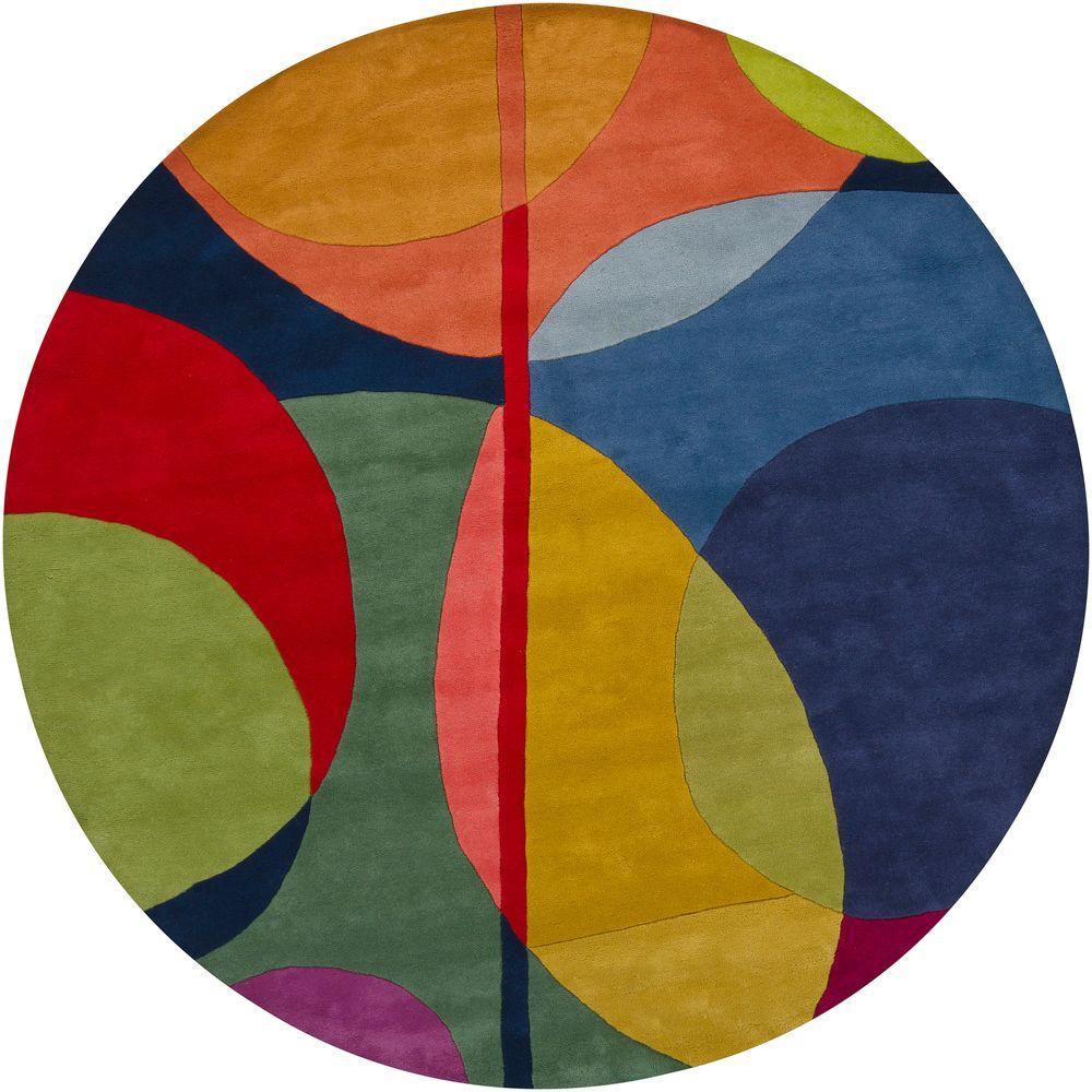 Bense Multicolor 8 ft. Indoor Round Area Rug