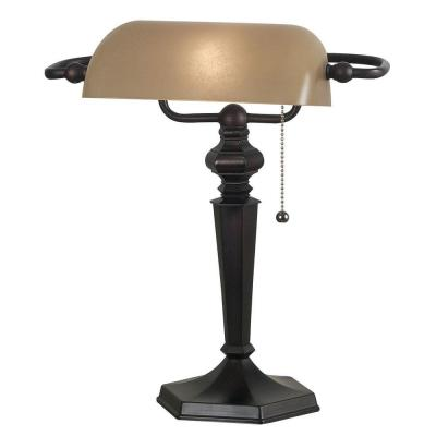 Chesapeake 15 in. Oil-Rubbed Bronze Banker Lamp