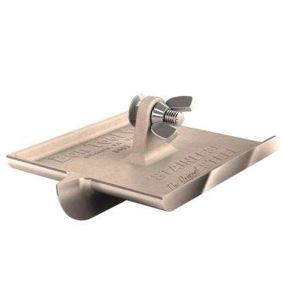 6 in. x 4-1/2 in. Stainless Steel Concrete Bullet Walking Groover