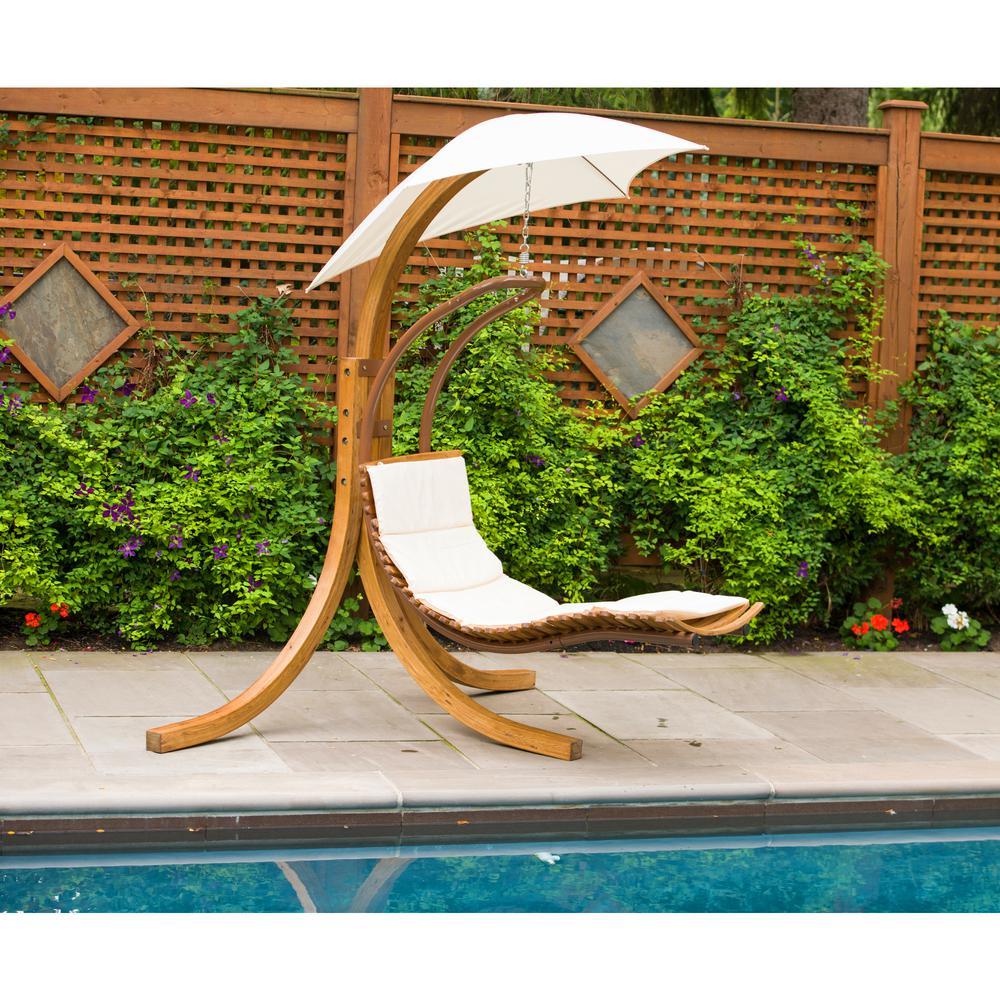 Leisure season patio swing lounge chair with umbrella