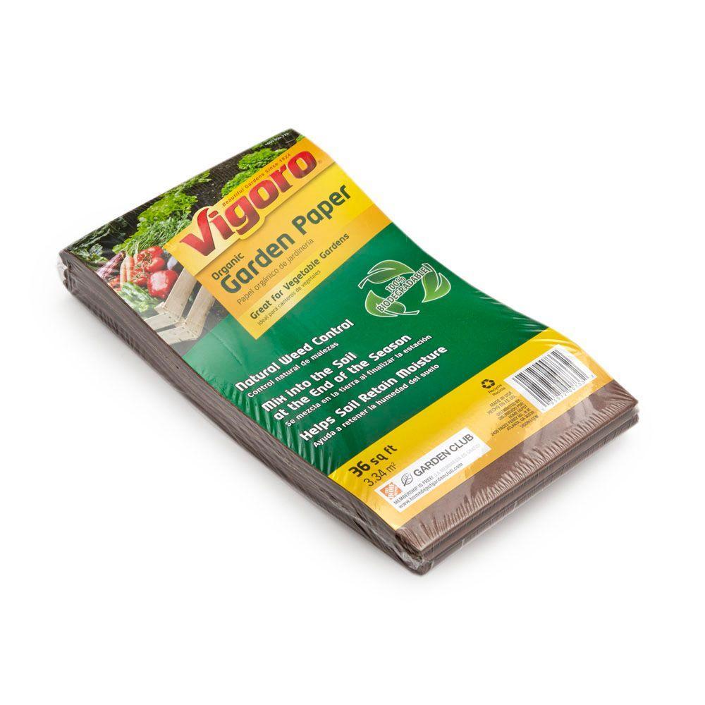 Vigoro 36 sq. ft. Folded Organic Paper