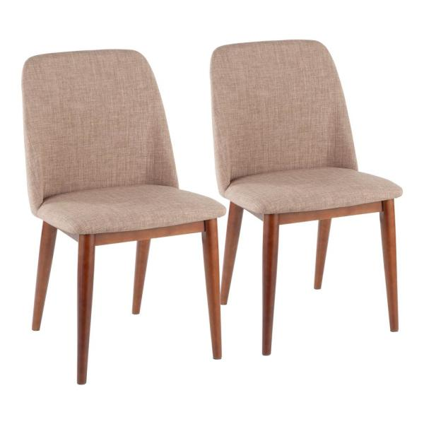 Lumisource Tintori Espresso and Brown Dining / Accent Chair (Set of