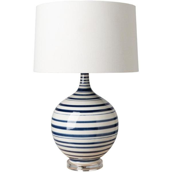 Donovan 25.5 in. Navy/Cream Indoor Table Lamp