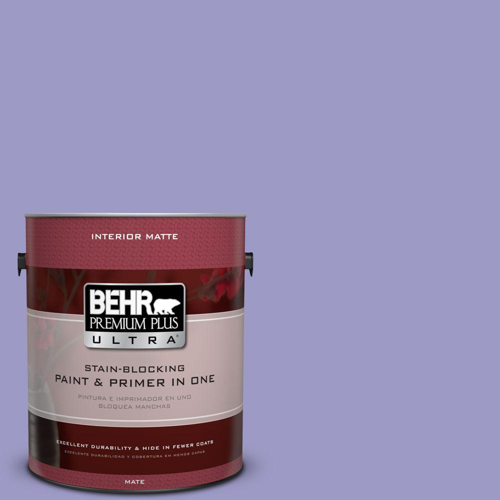 1 gal. #630B-5 Majestic Violet Matte Interior Paint and Primer in