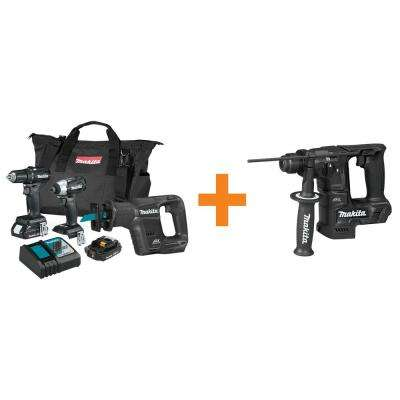 18-Volt LXT Sub-Compact Brushless 3-Piece Combo Kit (2.0 Ah) with Bonus 18-Volt LXT Brushless 11/16 in. Rotary Hammer