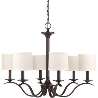 Inspire 6-Light Antique Bronze Chandelier with Shade