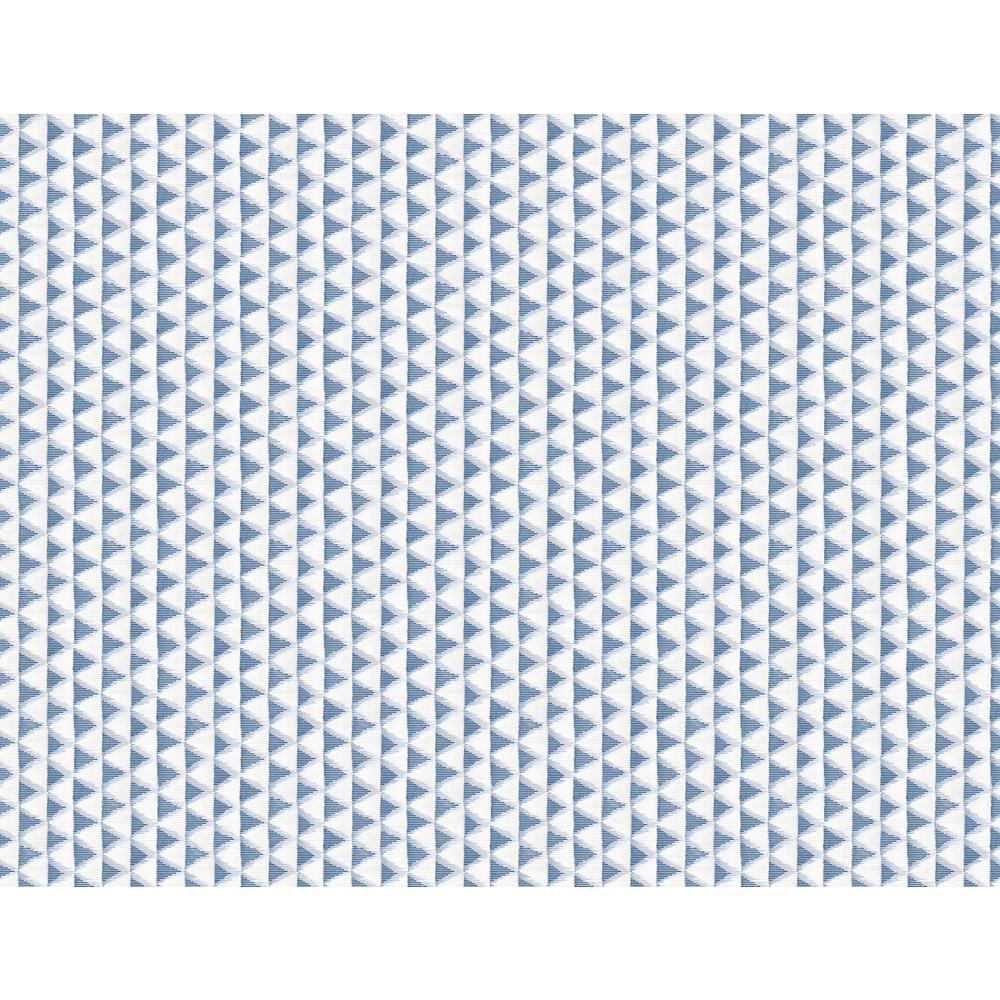 Tamarack Metallic Silver, Blue, & Off-White Triangle Geo Wallpaper
