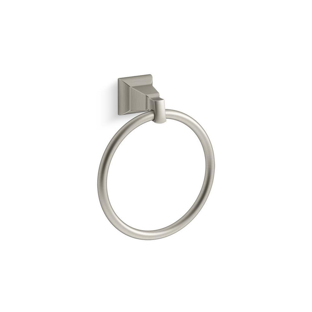 KOHLER Kallan Towel Ring in Vibrant Brushed Nickel