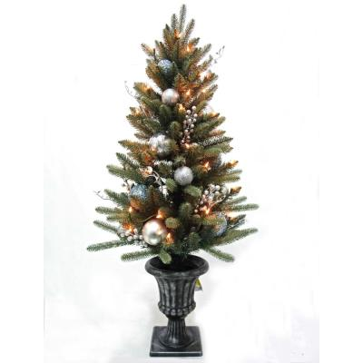 home accents holiday 5 ft wood trail pine artificial christmas treepre lit decorated blue spruce potted artificial christmas tree with