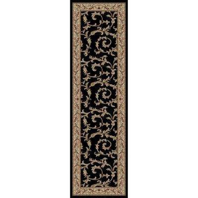 Jewel Veronica Black 2 ft. x 8 ft. Runner Rug