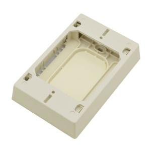 Wiremold Non-Metallic PVC Raceway 15 Amp Toggle Switch Box Kit with Faceplate and Device Switch, Ivory