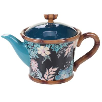24 oz. Multi-Colored Exotic Jungle Teapot