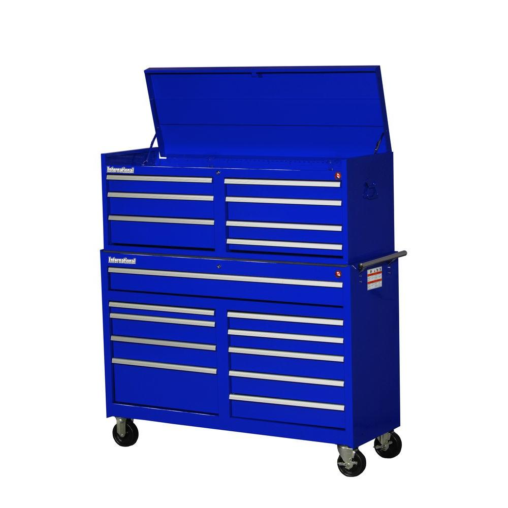 Workshop 54 in. 17-Drawer ToolSet, Blue