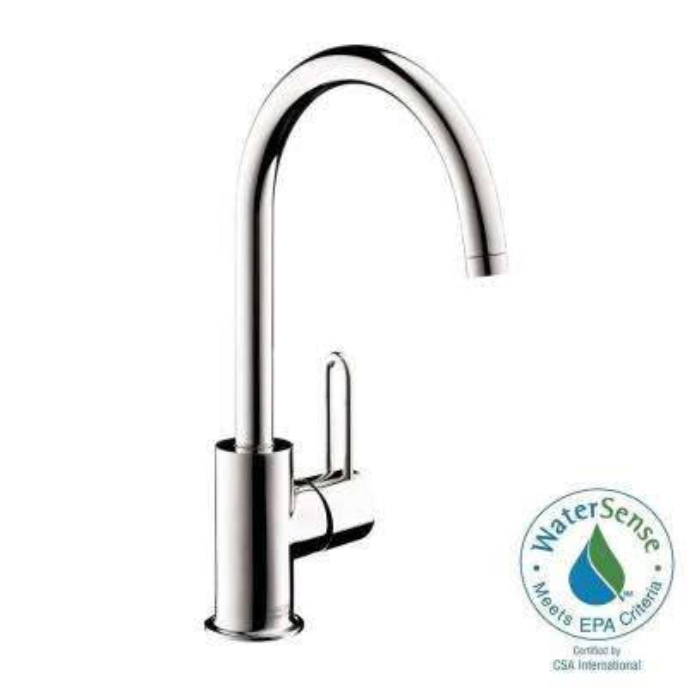 Uno Single Hole 1-Handle High-Arc Bathroom Faucet in Chrome