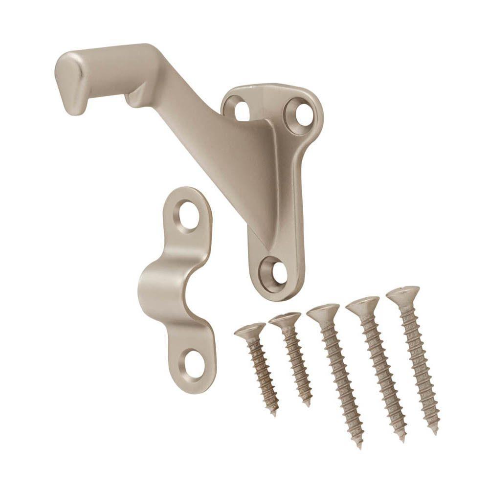 Handrail Bracket Satin Brushed Nickel with Screws and Mounting Hardware Pewter